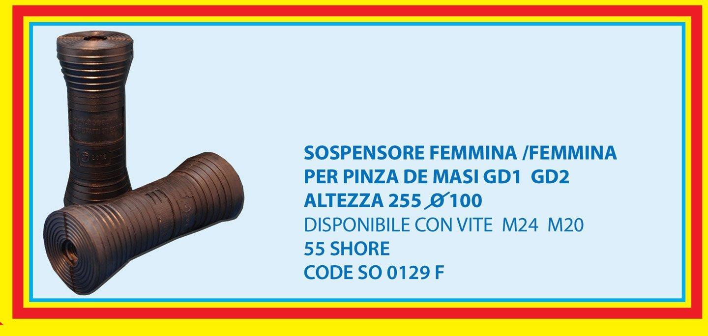female suspension for De Masi gripper