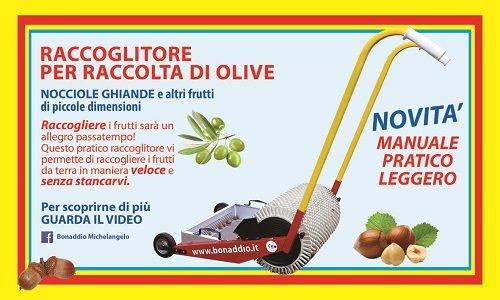 volantino bonaddio- raccoglitore per raccolta di olive