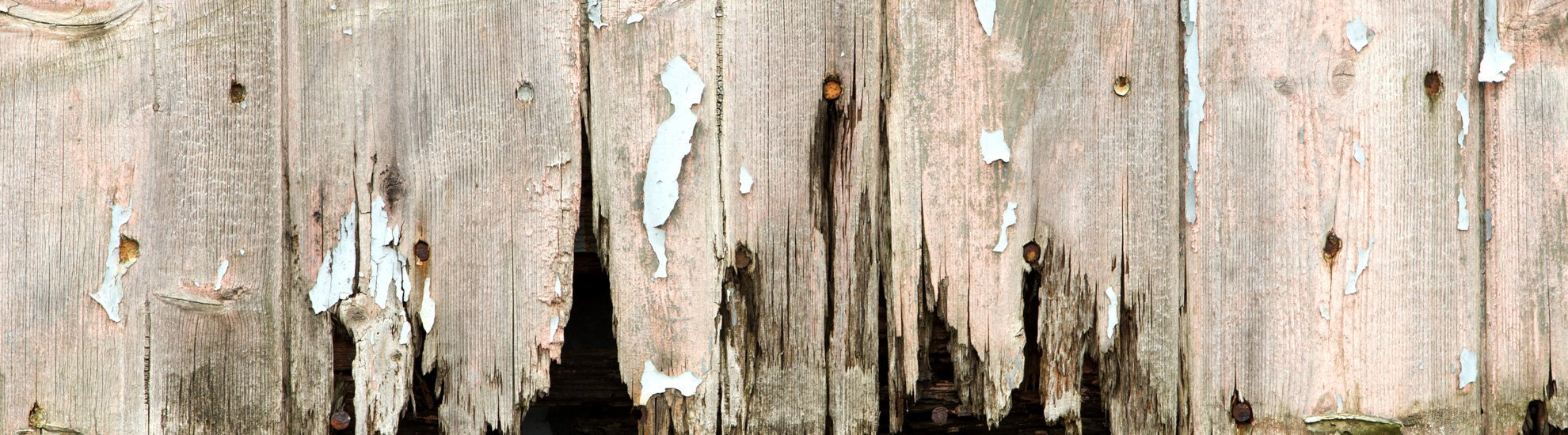 damaged timber