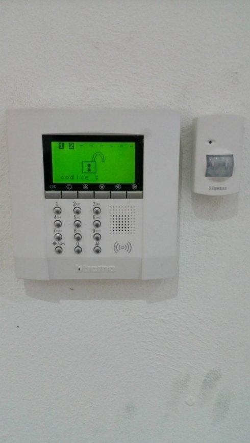 tastiera per controllo e gestione impianto