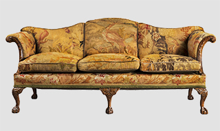 Restored couch from Creative Custom Upholstery in Oakland, NJ