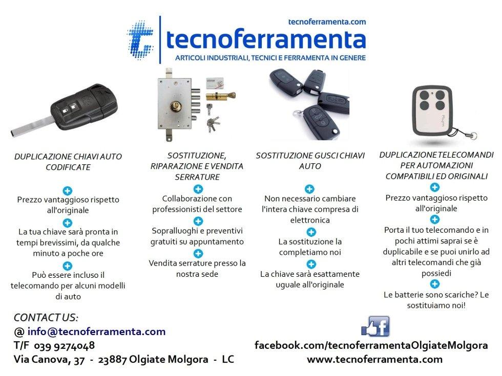Servizi chiavi, serrature, chip, telecomandi