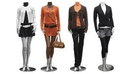 manichini abbigliati, abbigliamento donna, capi femminili