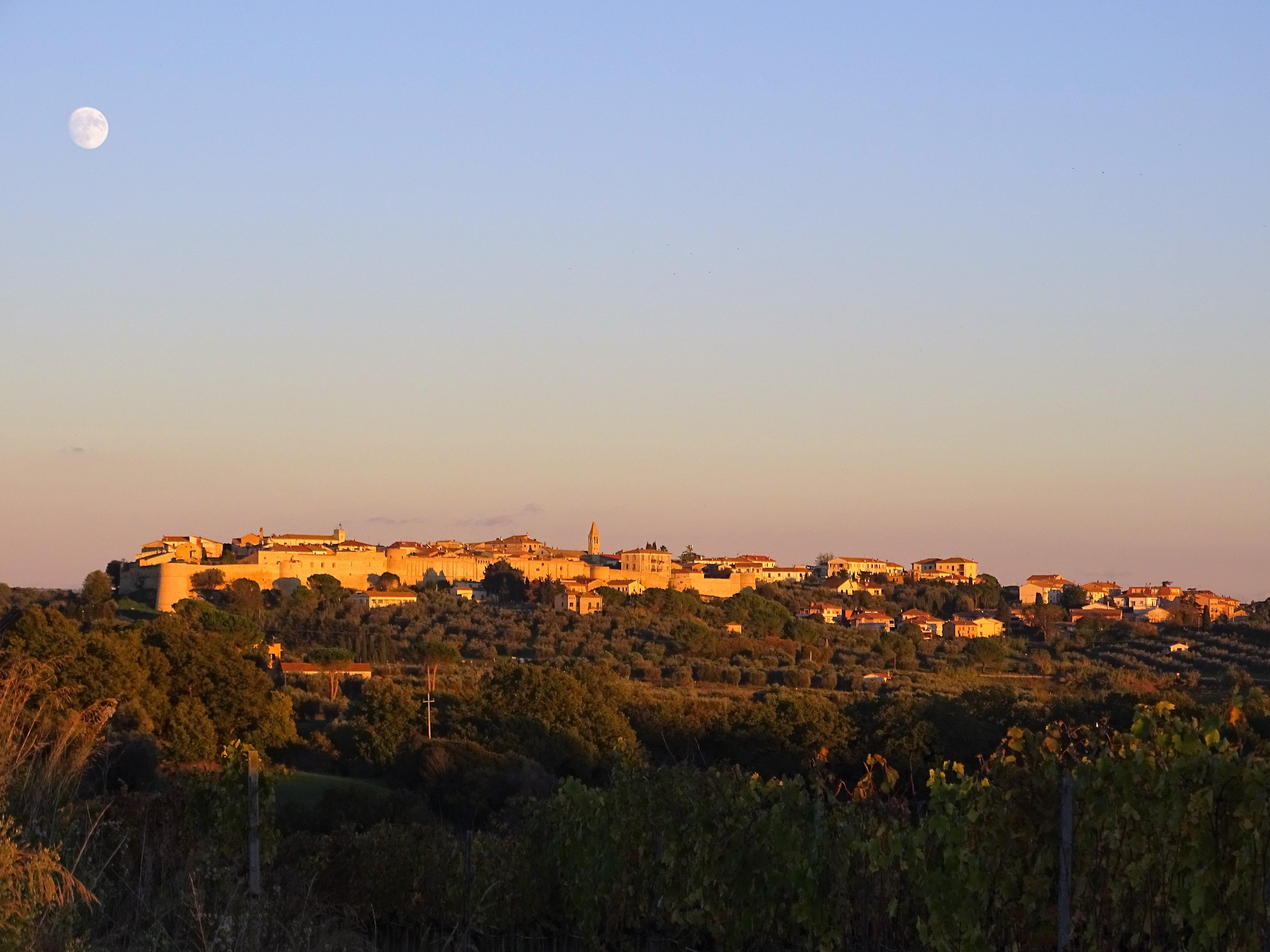 Il punto di vista superiore della collina della zona residenziale