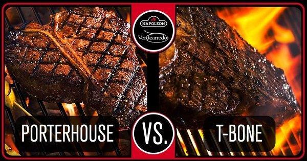 due bistecche messe a confronto porter house contro t bone