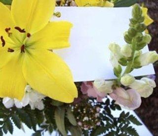 biglietto fiori