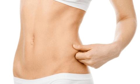 addome di dona dopo ossigenoclasi