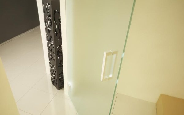 porta vetro opaco