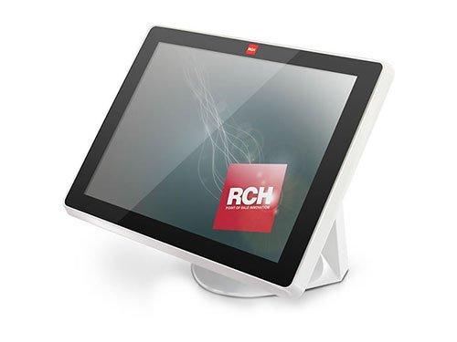 un monitor con scritto rch