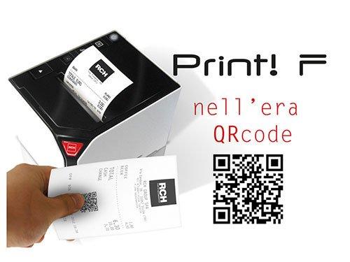 un'immagine con scritto print nell'era QR Code