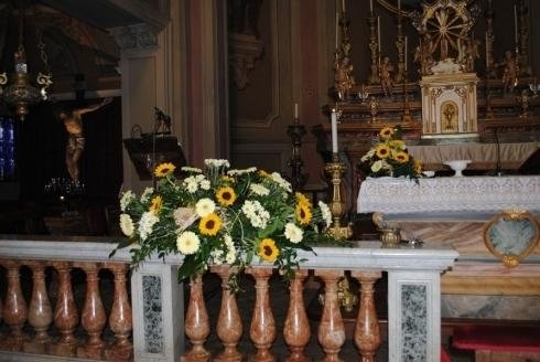 allestimenti floreali per chiese