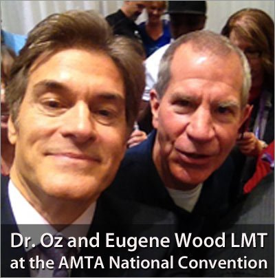 Massage Therapist Eugene Wood LMT with Dr. Oz at the AMTA National Convention