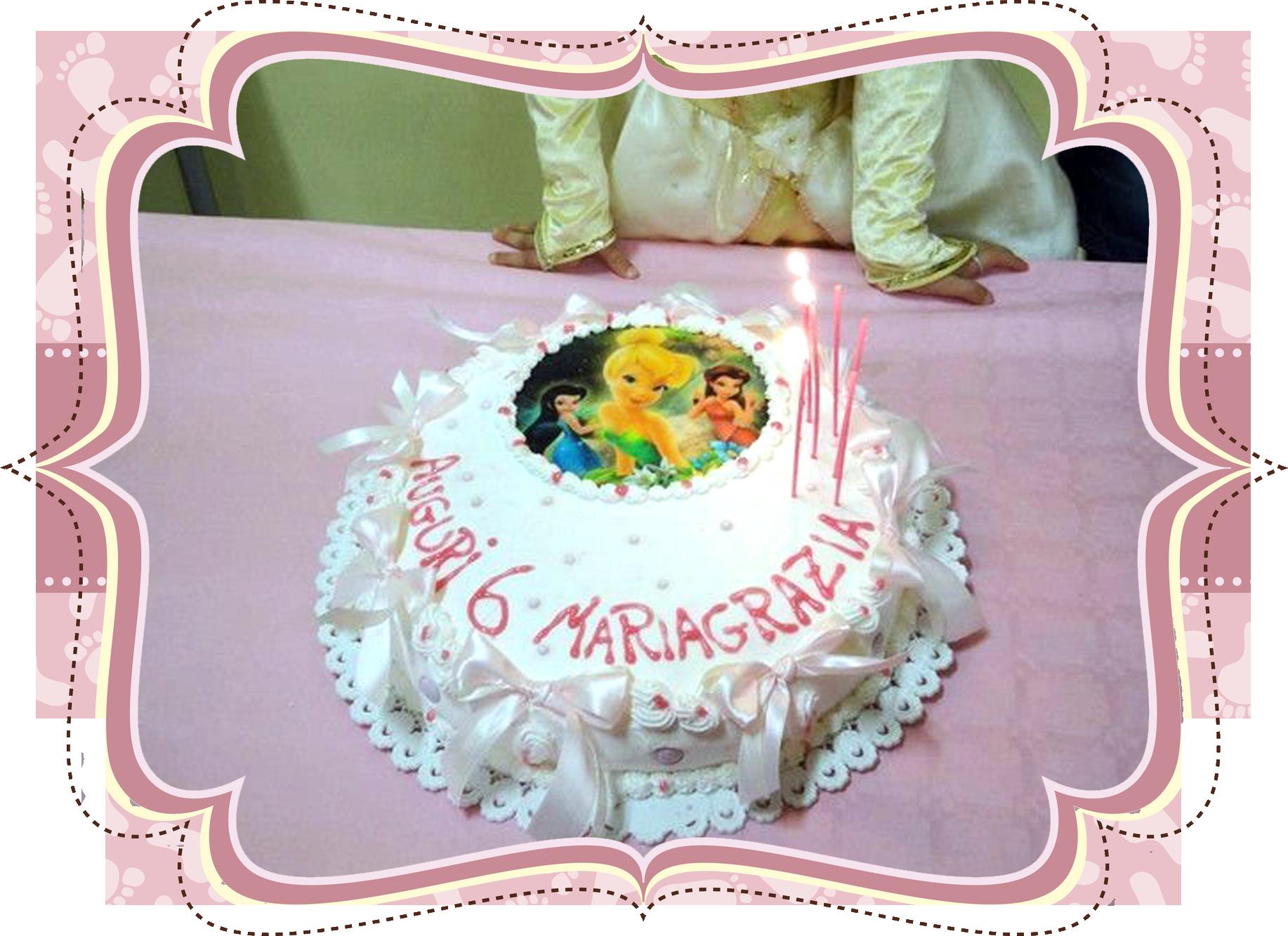 una torta di compleanno di una bambina