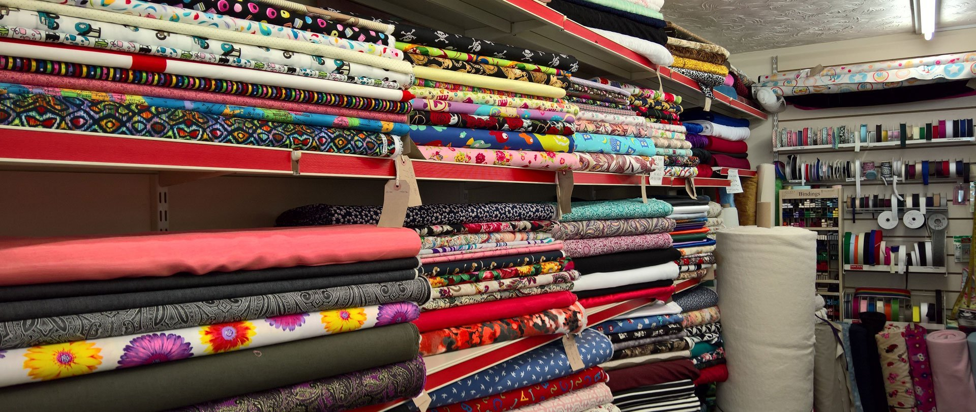 bunch of fabric materials