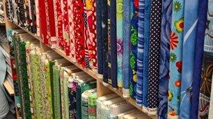 variety of fabrics