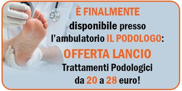 promozione Podologo ambulatorio Morego Genova