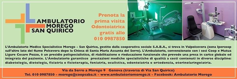 Ambulatorio san Quirico medico Morego specialistico Genova