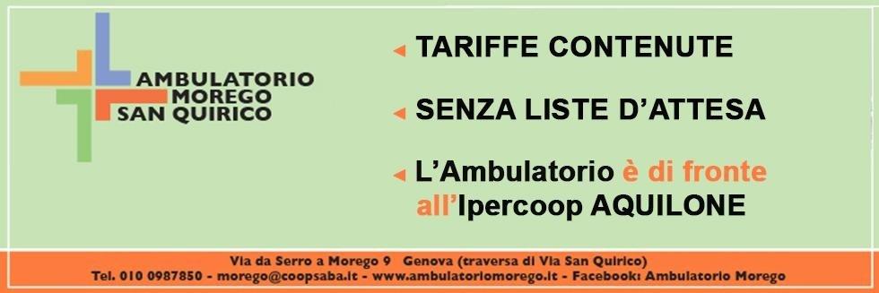Ambulatorio Morego Genova senza lista di attesa tariffe contenute
