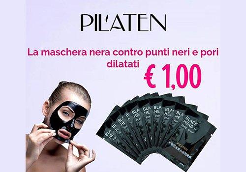 una maschera nera della marca Pil'aten