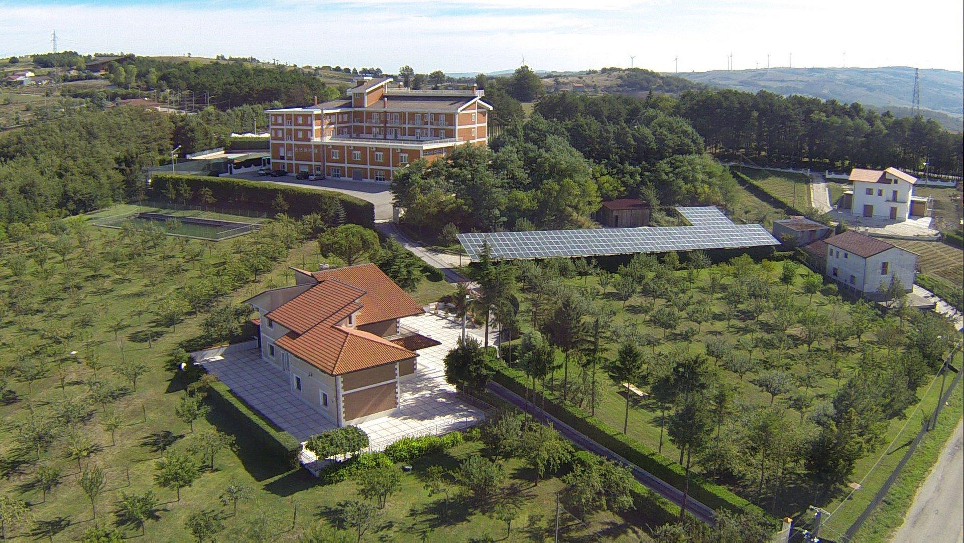 Vista dall'alto del ristorante hotel