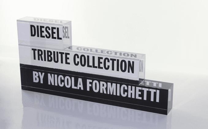 espositore DIESEL , TRIBUTE COLLECTION by Nicola Formichetti