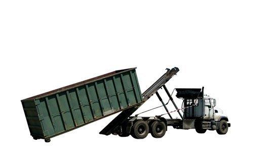 camion con rimorchio per trasporto e smaltimento rifiuti