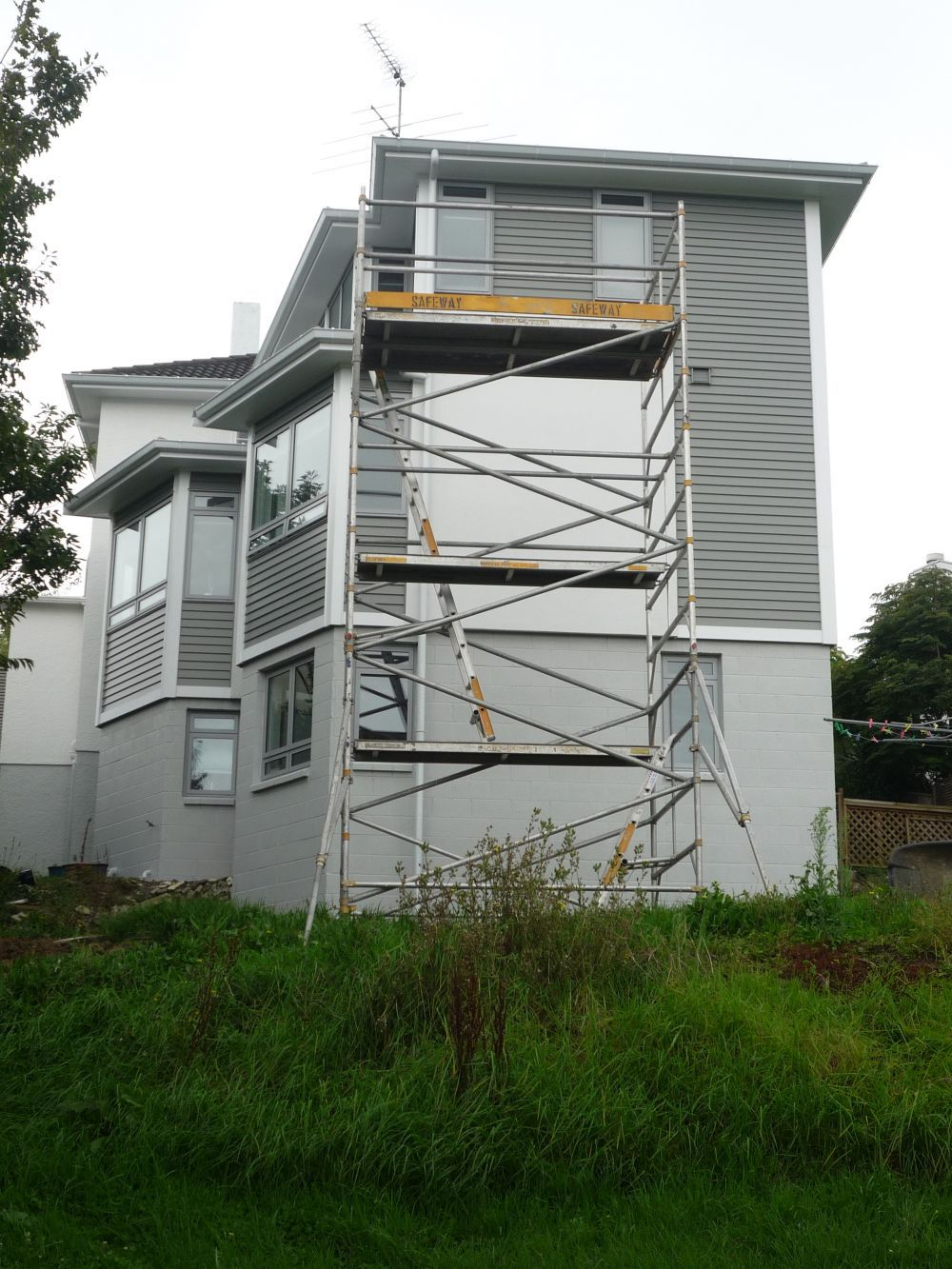 Aluminium scaffolding erected on-site in Auckland