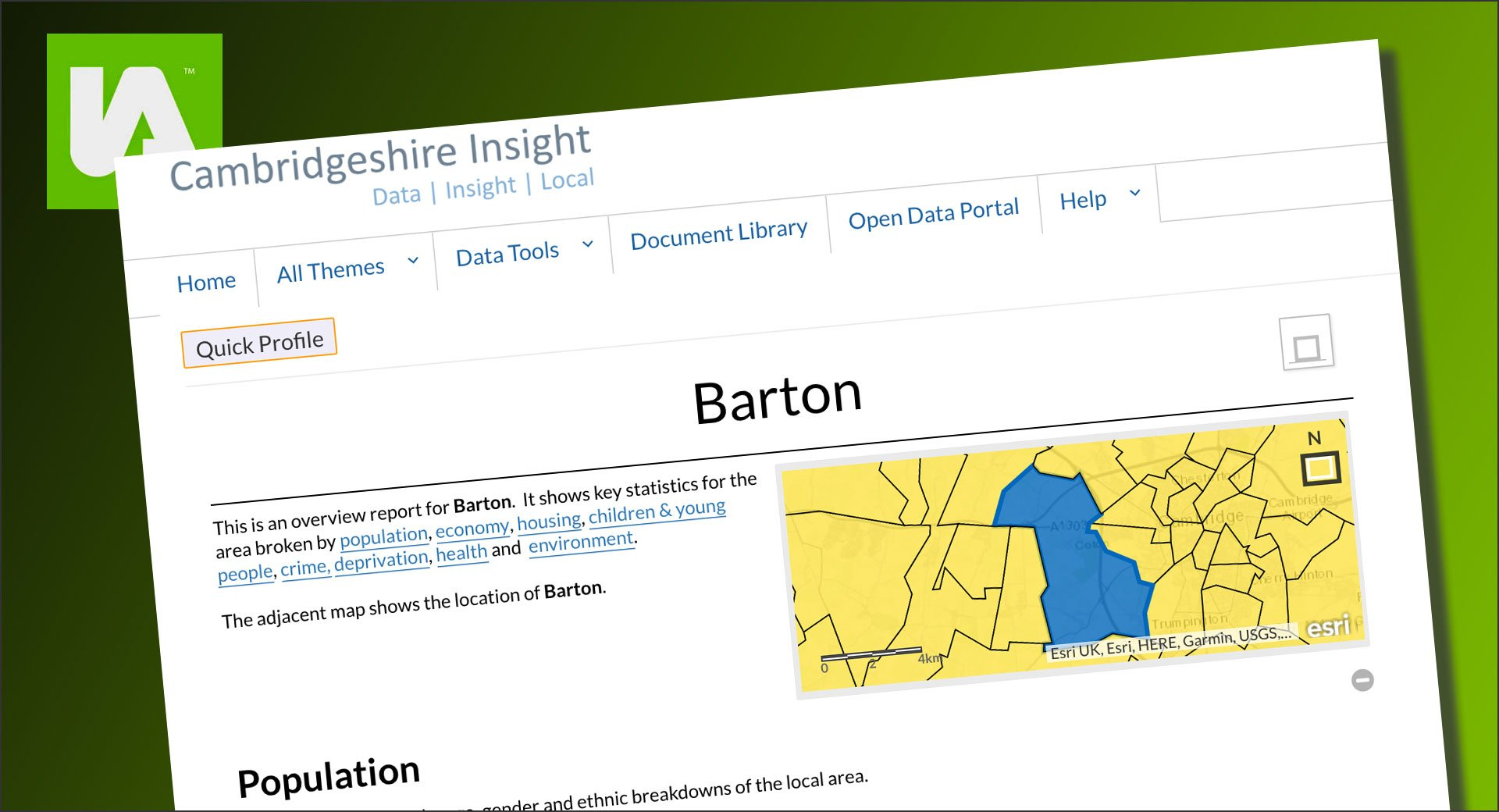InstantAtlas case study | Cambridgeshire Insight