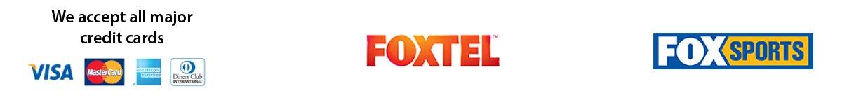 orana creditcard foxtel foxsports logos