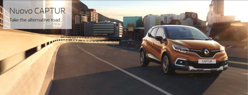 Renault Captur arancione