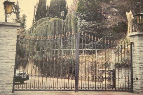 Un cancello finemente lavorato