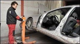 sistemazione veicoli incidentati