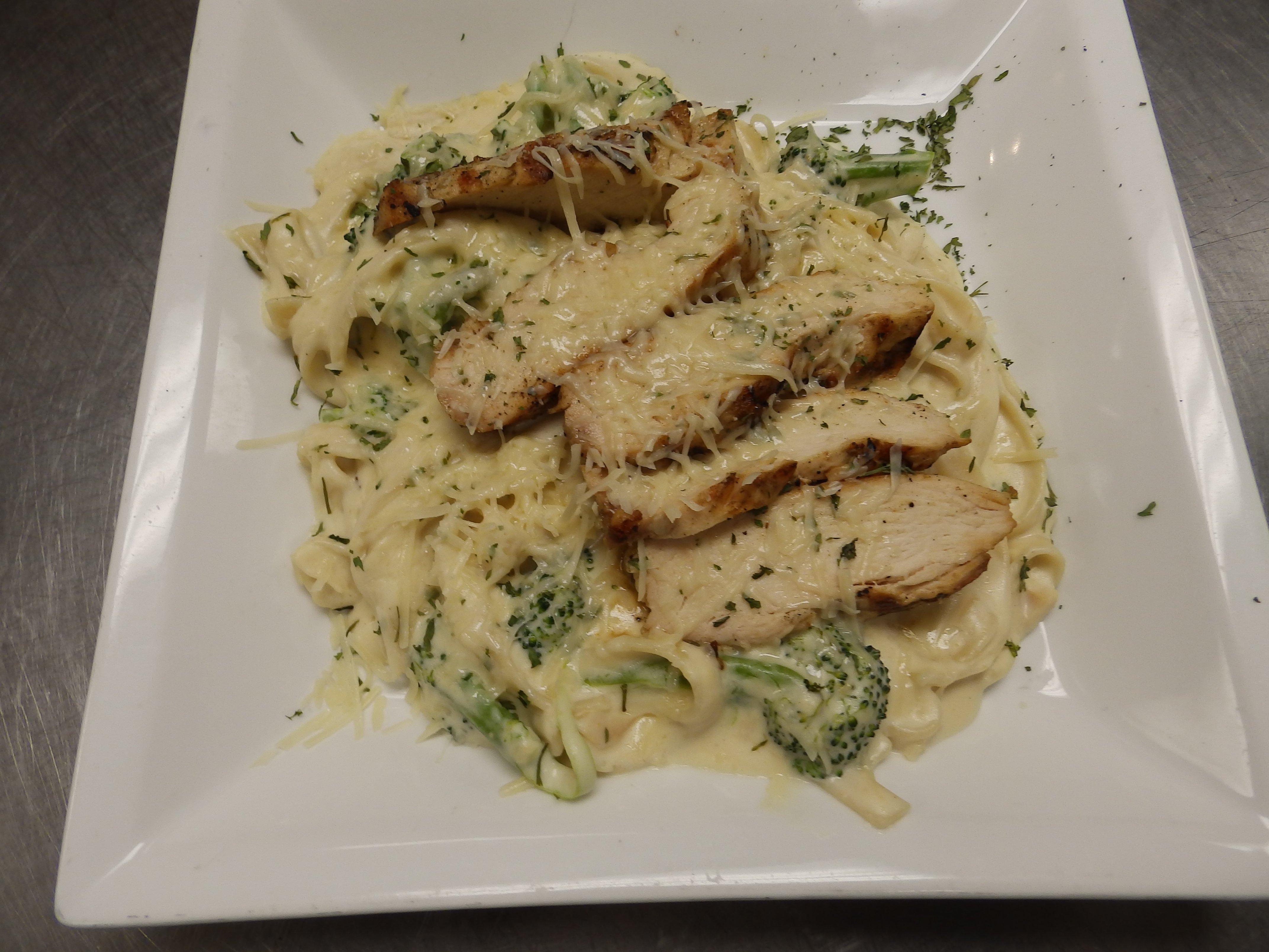 Charlmont Restaurant's chicken broccoli alfredo