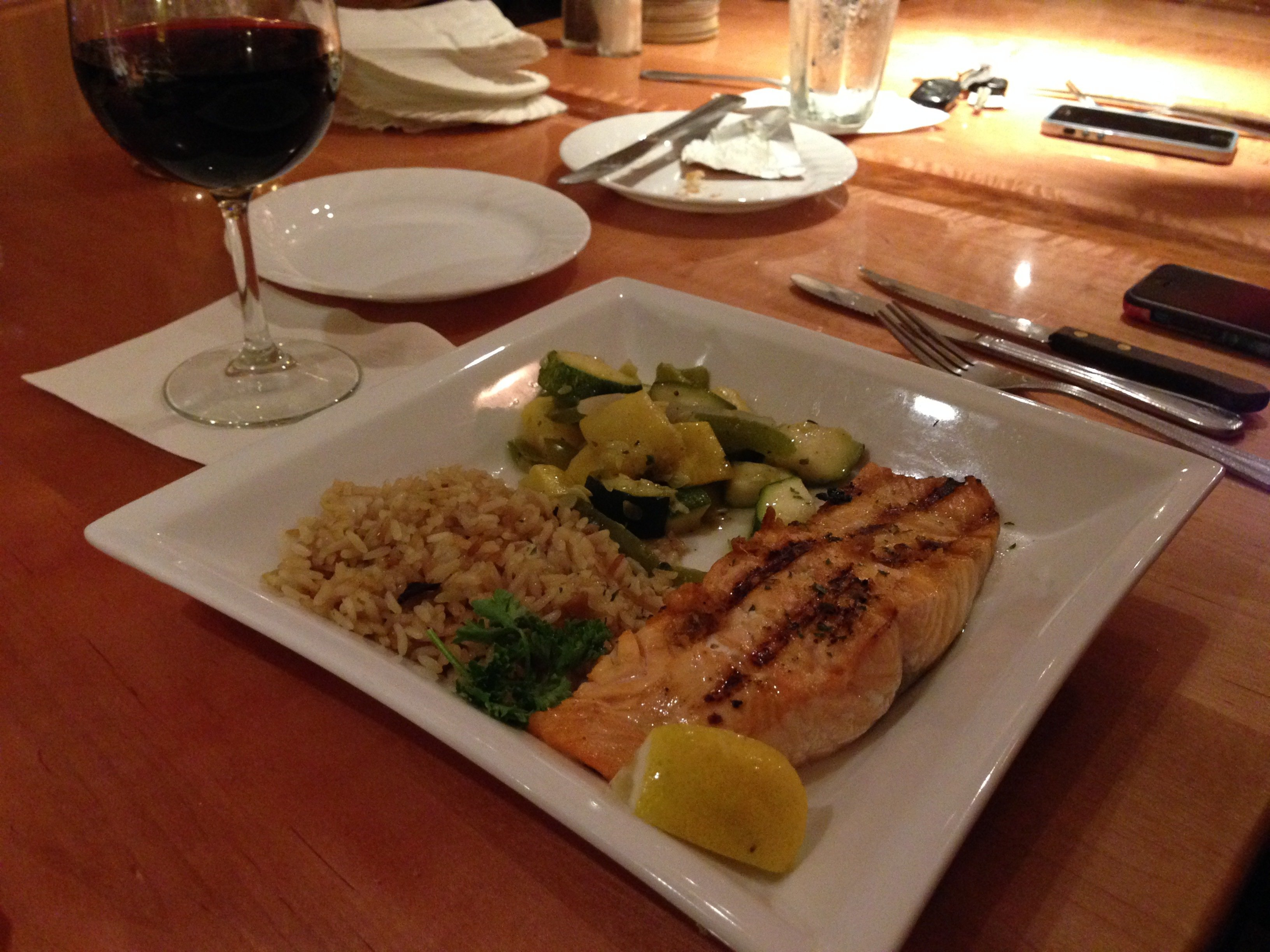 Charlmont Restaurant's grilled salmon