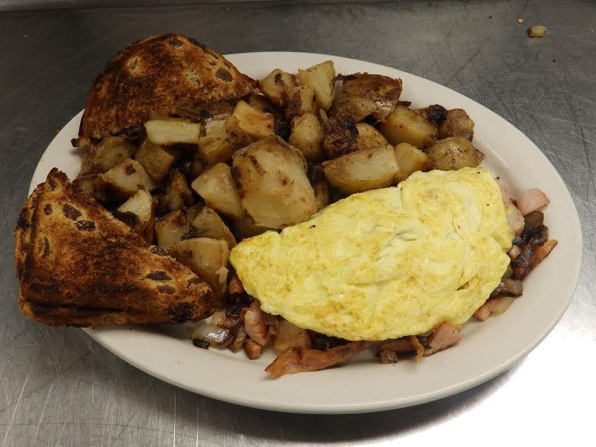 Charlmont Restaurant three egg omelette
