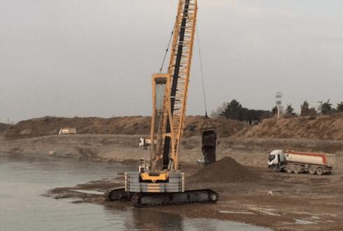 Escavatore Dragline Cava