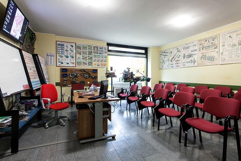 Sala lezioni Autoscuola Grifo