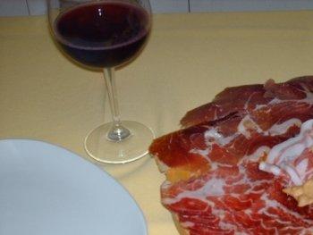 salumi  e vino rosso