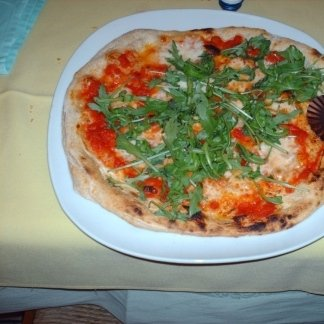 pizza in un piatto