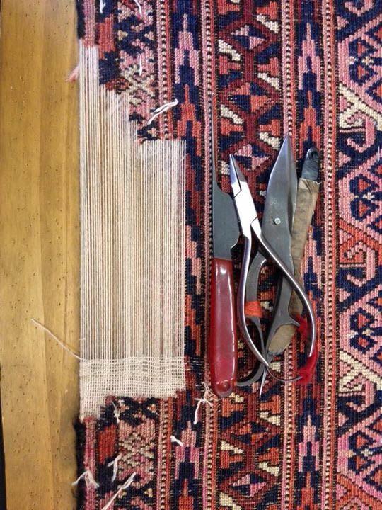 Tappeto persiano in realizzazione