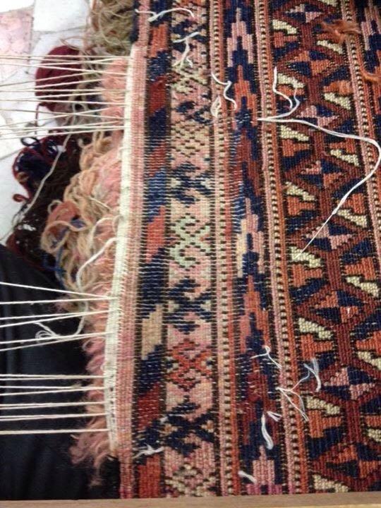 Rammendatura tappeto persiano