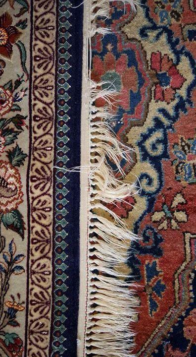 frangiatura tappeto persiano