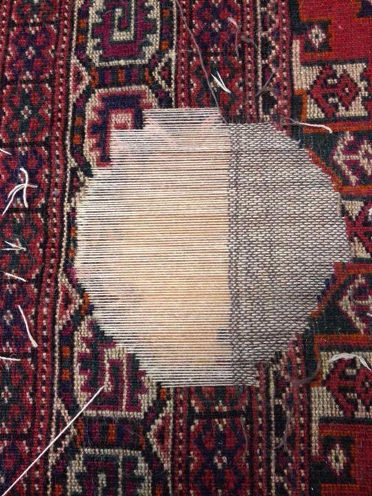 Riparazione tappeto pregiato