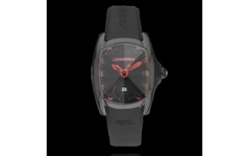 orologio nero e rosso