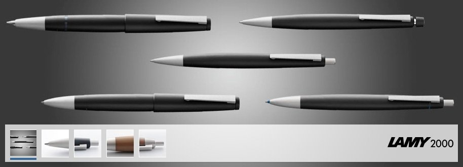penna in policarbonato