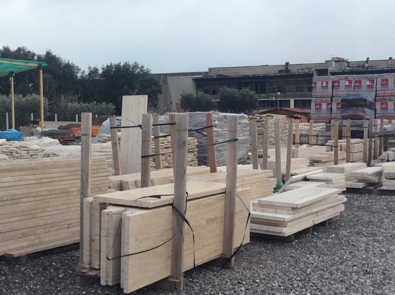 set di materiali edili