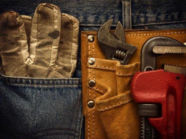 guanti e strumenti da lavoro