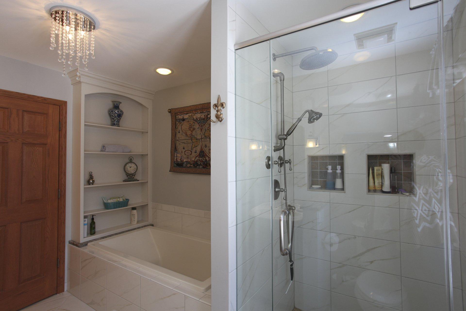 Bathroom remodeling arlington heights il cabinets plus for Bathroom remodeling arlington heights il