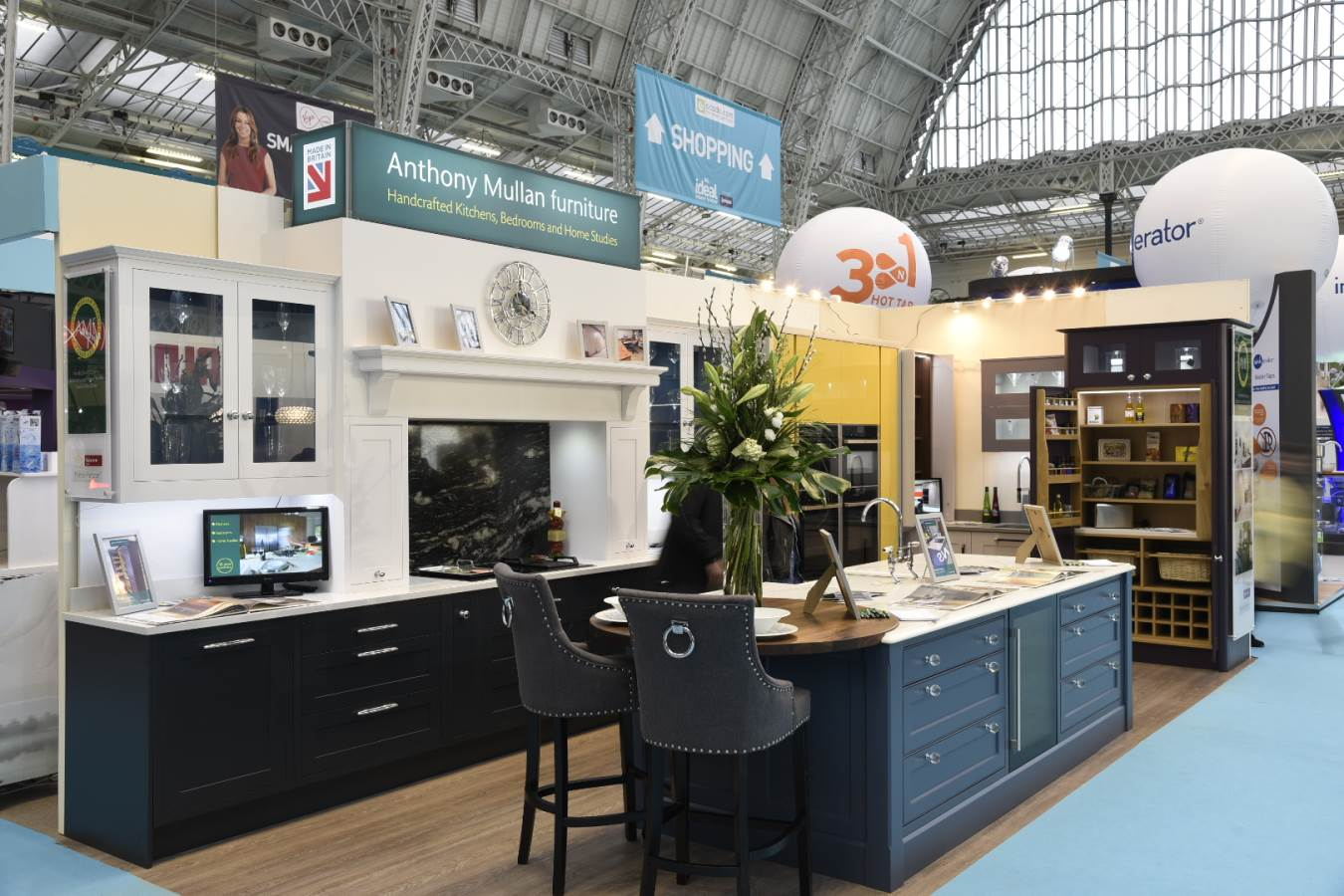 visit our stand at the ideal home show