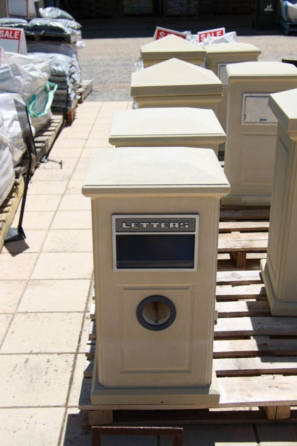 modern stone letterboxes